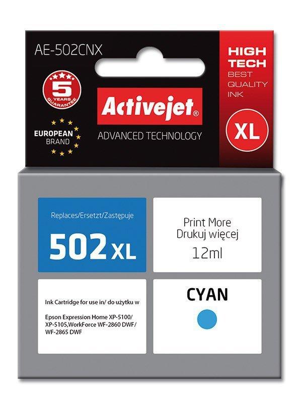 Tusz Activejet AE-502CNX (zamiennik Epson 502XL W24010; Supreme; 12 ml; niebieski)