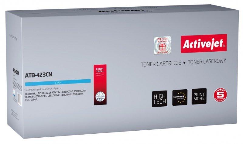 Toner Activejet ATB-423CN (zamiennik Brother TN-423C; Supreme; 4000 stron; niebieski)