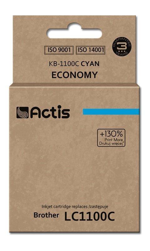 Tusz ACTIS KB-1100C (zamiennik Brother LC1100C/980C; Standard; 19 ml; niebieski)