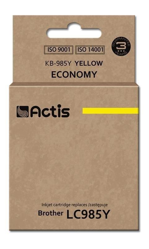 Tusz ACTIS KB-985Y (zamiennik Brother LC985Y; Standard; 19,5 ml; żółty)