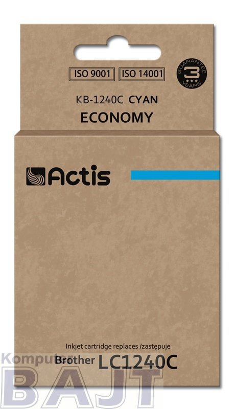 Tusz ACTIS KB-1240C (zamiennik Brother LC1240C/LC1220C; Standard; 19 ml; niebieski)