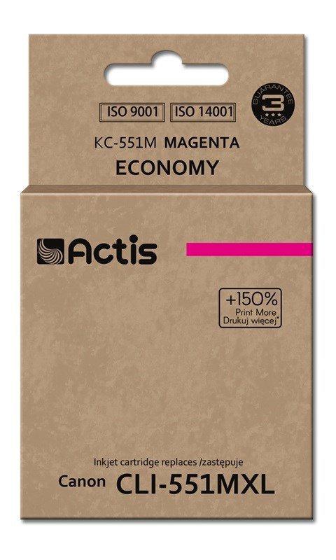Tusz ACTIS KC-551M (zamiennik Canon CLI-551M; Standard; 12 ml; czerwony)