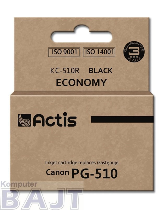 Tusz ACTIS KC-510R (zamiennik Canon PG-510; Standard; 12 ml; czarny)