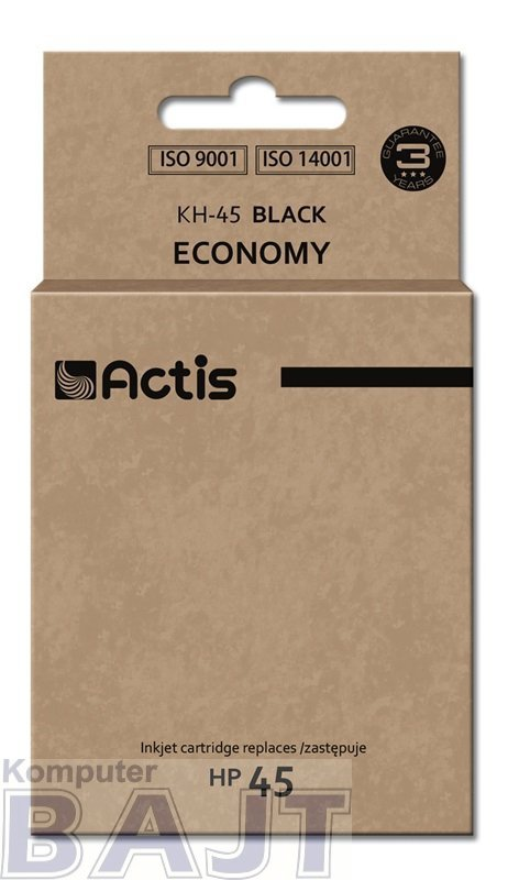 Tusz ACTIS KH-45 (zamiennik HP 45 51645A; Standard; 44 ml; czarny)