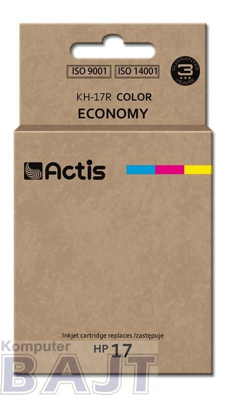 Tusz ACTIS KH-17R (zamiennik HP 17 C6625A; Standard; 39 ml; kolor)