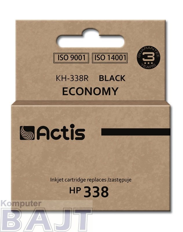 Tusz ACTIS KH-338R (zamiennik HP 338 C8765EE; Standard; 15 ml; czarny)