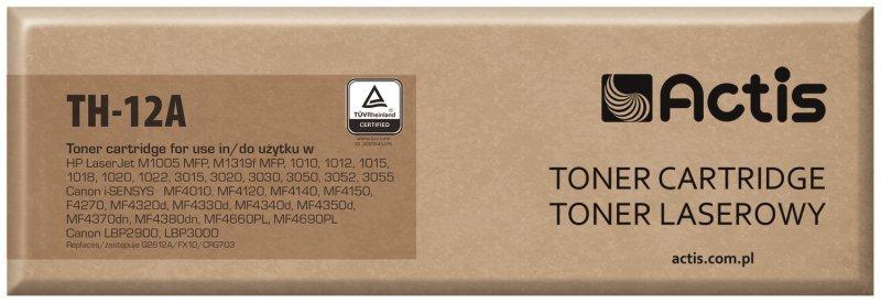 Toner ACTIS TH-12A (zamiennik HP 12A Q2612A, Canon FX-10, Canon CRG-703; Standard; 2000 stron; czarny)