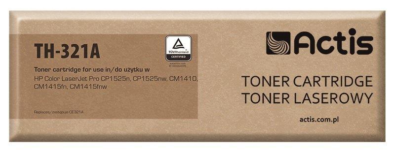 Toner ACTIS TH-321A (zamiennik HP 128A CE321A; Standard; 1300 stron; niebieski)