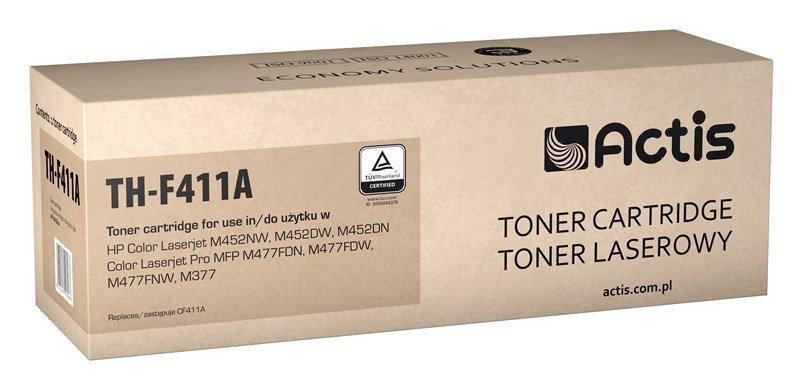 Toner ACTIS TH-F411A (zamiennik HP 410A CF411A; Standard; 2300 stron; niebieski)