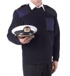 sweter mundurowy koloru granatowego