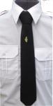krawat koloru czarnego z błyskawicą