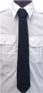 krawat koloru granatowego bezpieczny na rzep