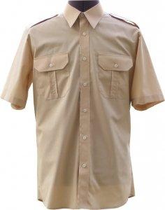 koszula mundurowa krótki rękaw beżowa