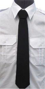 krawat koloru czarnego bezpieczny na gumce