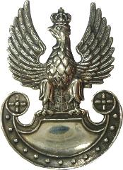 orzeł metalowy Wojsk Lądowych na czapkę