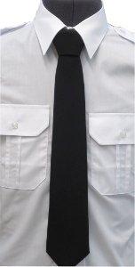 krawat koloru czarnego bezpieczny na rzep