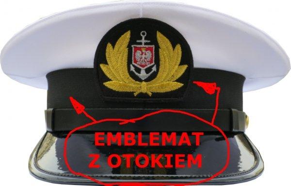 emblemat z otokiem do czapki mundurowej PMH