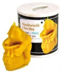 Forma silikonowa Niedźwiedź z beczką miodu – 6cm