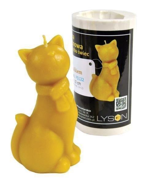 Forma silikonowa Kot w szaliku – wys. 10cm