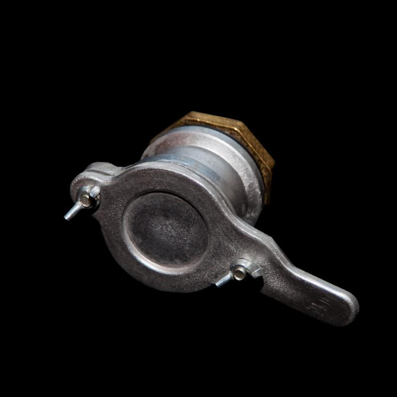 Zawór klapkowy aluminium 6/4 (fi 48 mm) z nakrętką