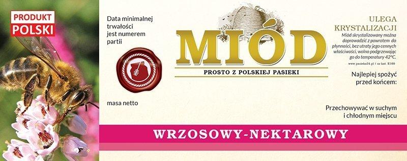 Paczka etykiet na miód wrzosowy 154x60 (100szt)