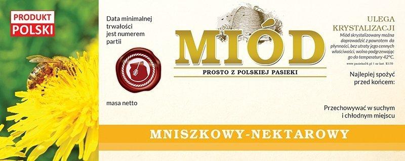 Paczka etykiet na miód mniszkowy 154x60 (100szt)