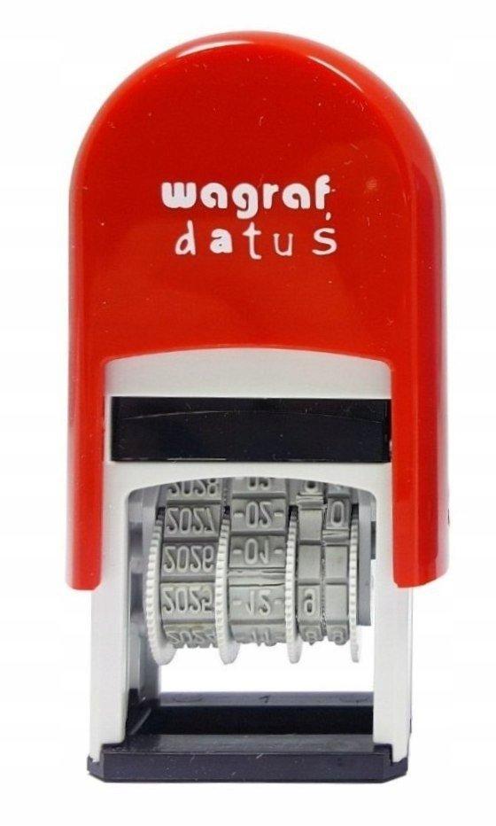 Pieczątka datownik do datowania etykiet Wagraf