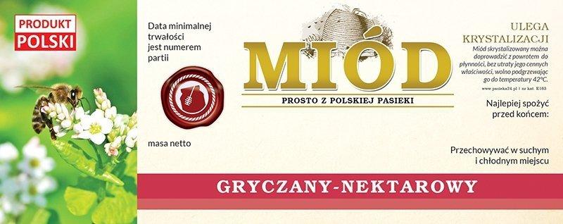 Paczka etykiet na miód gryczany 154x60 (100szt)