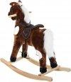 Interaktywny koń na biegunach - duży 70 cm - brązowy