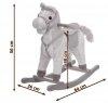 Koń na biegunach - średni 56 cm - brązowy