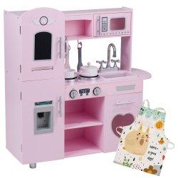 Różowa Kuchnia Retro + Fartuch