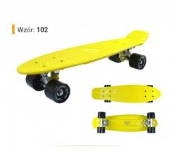 Deskorolka Fiszka 56cm - Deckboard 102 żółty