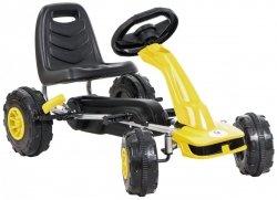 Gokart na pedały - jeździk dla dzieci 3-8 lat - żółty