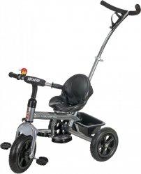 Rowerek Trójkołowy z pchaczem i pompowanymi kołami TOBI BASIC AIR 2 - szary