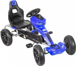 Gokart na pedały - jeździk dla dzieci 5-12 lat - niebieski