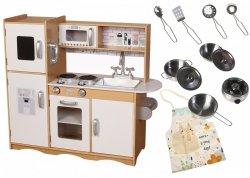 Wielka Drewniana Kuchnia Maxi do Zabawy + akcesoria - XXL