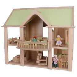 Domek z balkonem - lalki, akcesoria i meble w zestawie! - przedsprzedaż