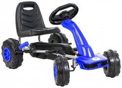 Gokart na pedały - jeździk dla dzieci 3-8 lat - niebieski