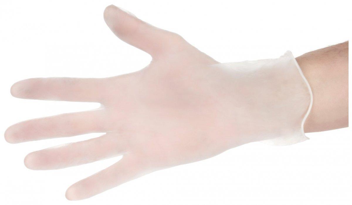 Rękawice Winylowe Bezpudrowe - 100 sztuk - rozmiar L