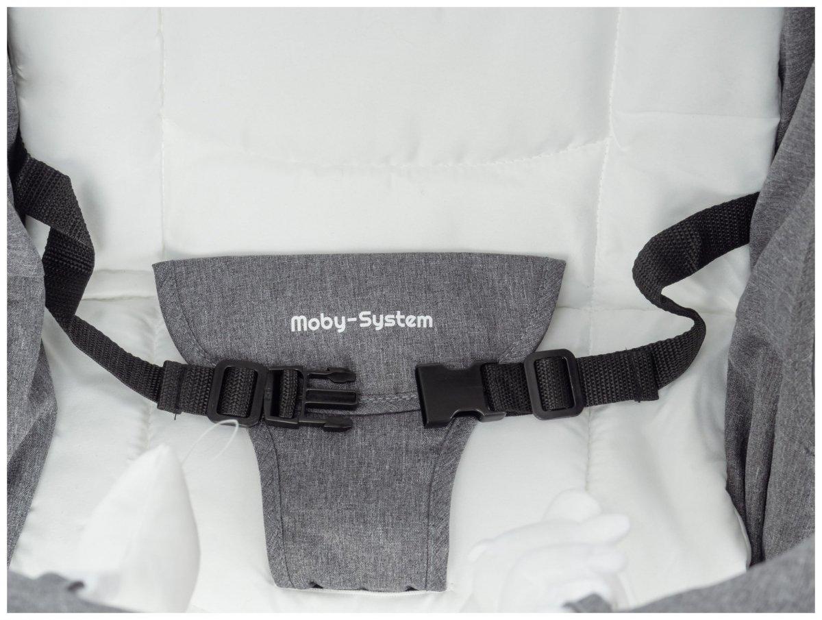 Leżaczek + Bujaczek + Kołyska 3w1 - Moby-System MILA