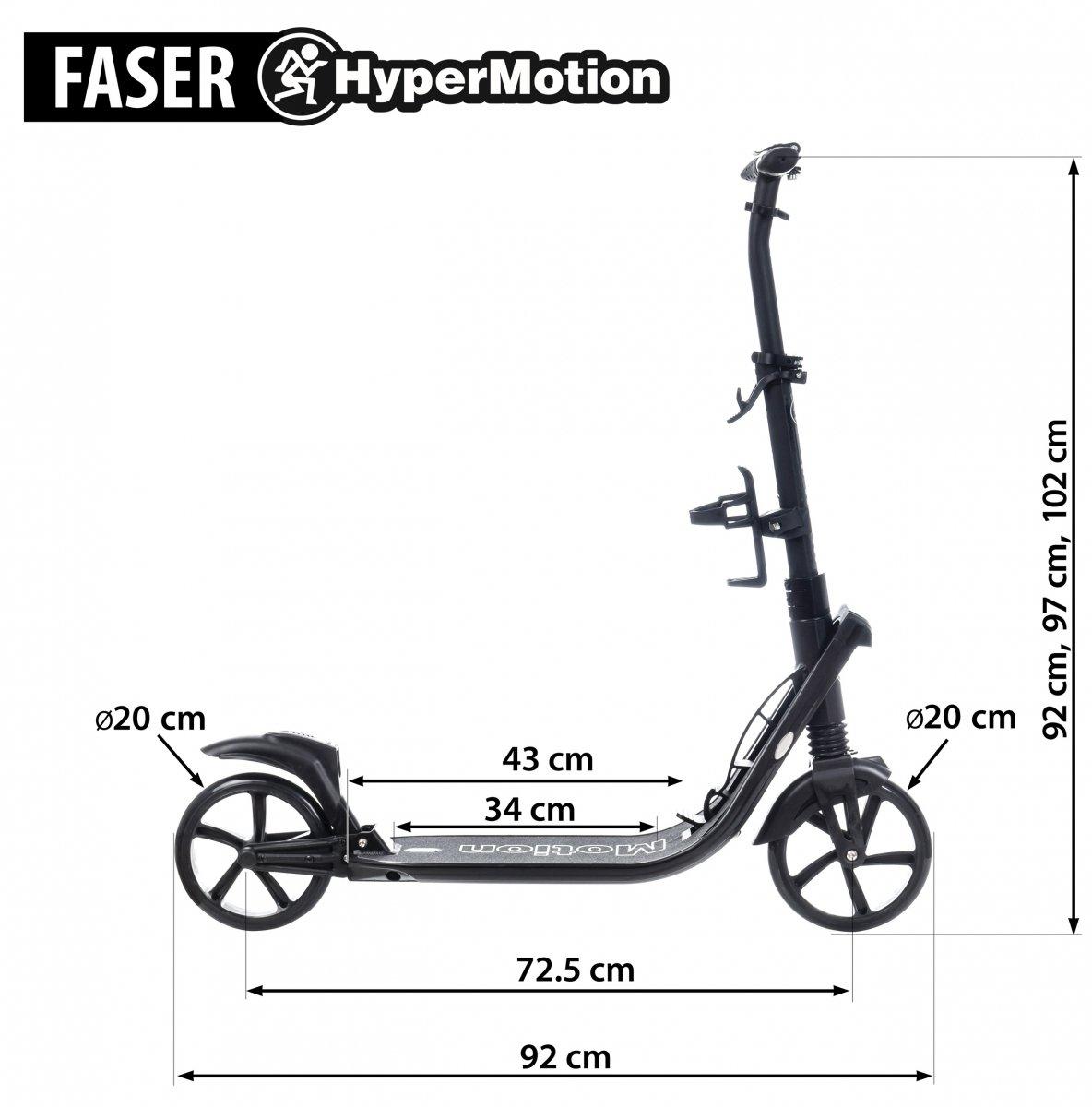 Hulajnoga dla dorosłych HyperMotion FASER - czarna
