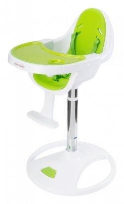Wysokie obrotowe krzesełko do karmienia FLORA - zielone