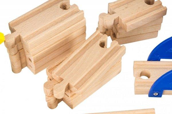 Kolejka drewniana 70 elementów
