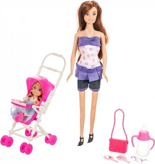 Lalka Anlily - Wózek dziecięcy - brunetka