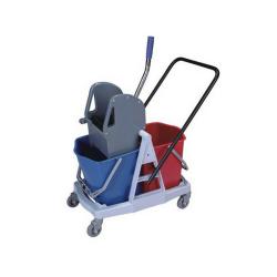 Wózek do sprzątania dwuwiaderkowy 2x17L z tworzywa/plastik