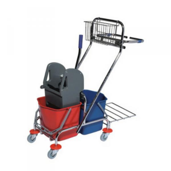 Wózek do sprzątania serwisowy dwuwiaderkowy z uchwytem na worek