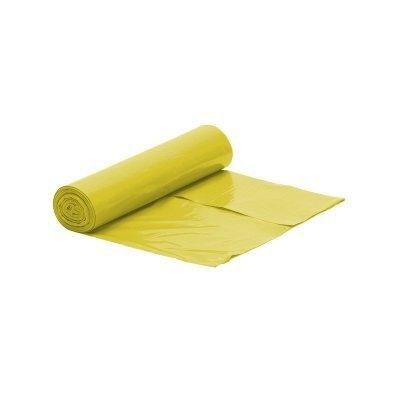 Worek żółty na śmieci LDPE 60L/rolka 50 szt