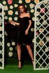 Zjawiskowa sukienka bardotka L258 czarny