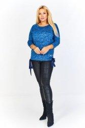 Sweter w melanżowym odcieniu z ozdobnym wiązaniem po bokach