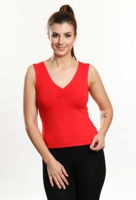 Gina czerwony bluzka